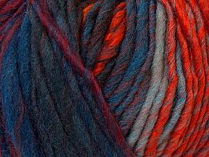 Fiber Content 60% Wool, 40% Acrylic, Orange, Brand ICE, Green Shades, Gold, Blue Shades, Yarn Thickness 4 Medium  Worsted, Afghan, Aran, fnt2-34611