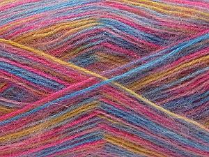 Fiber Content 70% Angora, 30% Acrylic, Pink, Brand ICE, Gold, Blue, Yarn Thickness 2 Fine  Sport, Baby, fnt2-35091