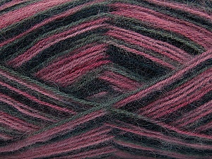 Fiber Content 70% Angora, 30% Acrylic, Pink Shades, Brand ICE, Grey, Black, Yarn Thickness 2 Fine  Sport, Baby, fnt2-35097