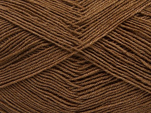 Fiber Content 55% Cotton, 45% Acrylic, Brand ICE, Brown, Yarn Thickness 1 SuperFine  Sock, Fingering, Baby, fnt2-38668