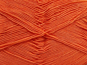 Fiber Content 55% Cotton, 45% Acrylic, Light Orange, Brand ICE, Yarn Thickness 1 SuperFine  Sock, Fingering, Baby, fnt2-38671