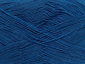 Fiber Content 55% Cotton, 45% Acrylic, Brand ICE, Blue, Yarn Thickness 1 SuperFine  Sock, Fingering, Baby, fnt2-38680