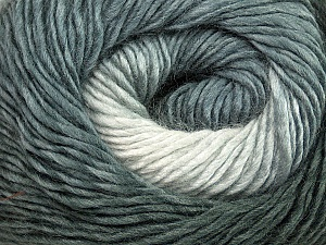 Fiber Content 50% Wool, 50% Acrylic, Brand ICE, Grey Shades, Yarn Thickness 2 Fine  Sport, Baby, fnt2-40621