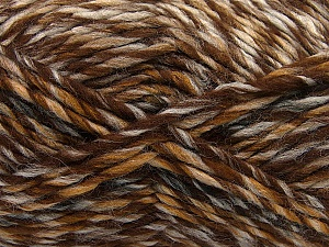 Fiber Content 75% Acrylic, 25% Wool, Brand ICE, Brown Shades, Yarn Thickness 5 Bulky  Chunky, Craft, Rug, fnt2-40813