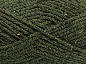 Fiber Content 72% Acrylic, 3% Viscose, 25% Wool, Brand ICE, Dark Khaki, Yarn Thickness 6 SuperBulky  Bulky, Roving, fnt2-40839
