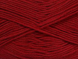 Fiber Content 50% Cotton, 50% Bamboo, Brand ICE, Burgundy, Yarn Thickness 2 Fine  Sport, Baby, fnt2-41442
