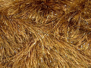 Fiber Content 75% Polyester, 25% Metallic Lurex, Brand ICE, Gold, Camel, Yarn Thickness 5 Bulky  Chunky, Craft, Rug, fnt2-42258