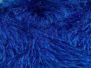 Fiber Content 75% Polyester, 25% Metallic Lurex, Brand ICE, Blue, Yarn Thickness 5 Bulky  Chunky, Craft, Rug, fnt2-42262