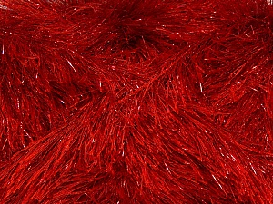 Fiber Content 75% Polyester, 25% Metallic Lurex, Red, Brand ICE, Yarn Thickness 5 Bulky  Chunky, Craft, Rug, fnt2-42264