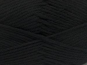 Fiber Content 50% Acrylic, 50% Polyamide, Brand ICE, Black, Yarn Thickness 3 Light  DK, Light, Worsted, fnt2-42368