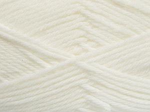 Fiber Content 50% Acrylic, 50% Polyamide, White, Brand ICE, Yarn Thickness 3 Light  DK, Light, Worsted, fnt2-42370