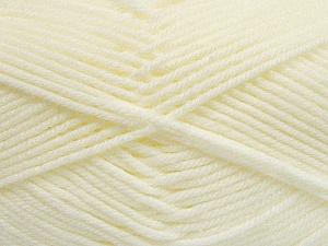 Fiber Content 50% Acrylic, 50% Polyamide, Brand ICE, Cream, Yarn Thickness 3 Light  DK, Light, Worsted, fnt2-42372
