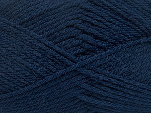 Fiber Content 50% Acrylic, 50% Polyamide, Navy, Brand ICE, Yarn Thickness 3 Light  DK, Light, Worsted, fnt2-42373