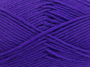 Fiber Content 50% Acrylic, 50% Polyamide, Purple, Brand ICE, Yarn Thickness 3 Light  DK, Light, Worsted, fnt2-42375