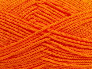 Fiber Content 50% Acrylic, 50% Polyamide, Orange, Brand ICE, Yarn Thickness 3 Light  DK, Light, Worsted, fnt2-42379