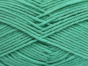 Fiber Content 50% Acrylic, 50% Polyamide, Mint Green, Brand ICE, Yarn Thickness 3 Light  DK, Light, Worsted, fnt2-42381