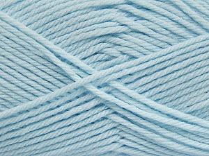 Fiber Content 50% Acrylic, 50% Polyamide, Brand ICE, Baby Blue, Yarn Thickness 3 Light  DK, Light, Worsted, fnt2-42386