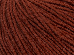 SUPERWASH MERINO is a worsted weight 100% superwash merino yarn available in 47 beautiful colors. Marvelous hand, perfect stitch definition, and a soft-but-sturdy finished fabric. Projects knit and crocheted in SUPERWASH MERINO are machine washable! Lay flat to dry. Fiber Content 100% Superwash Merino Wool, Brand ICE, Brown, Yarn Thickness 4 Medium  Worsted, Afghan, Aran, fnt2-42450