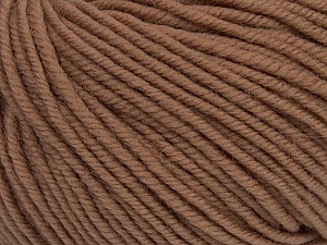 SUPERWASH MERINO is a worsted weight 100% superwash merino yarn available in 47 beautiful colors. Marvelous hand, perfect stitch definition, and a soft-but-sturdy finished fabric. Projects knit and crocheted in SUPERWASH MERINO are machine washable! Lay flat to dry. Fiber Content 100% Superwash Merino Wool, Light Brown, Brand ICE, Yarn Thickness 4 Medium  Worsted, Afghan, Aran, fnt2-42452