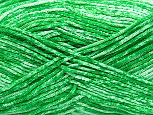 Strong pure cotton yarn in beautiful colours, reminiscent of bleached denim. Machine washable and dryable. Fiber Content 100% Cotton, White, Brand ICE, Green, Yarn Thickness 3 Light  DK, Light, Worsted, fnt2-42563
