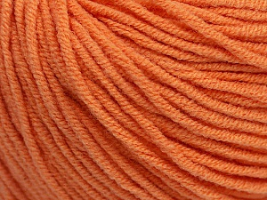 Fiber Content 50% Cotton, 50% Acrylic, Light Orange, Brand ICE, Yarn Thickness 3 Light  DK, Light, Worsted, fnt2-43834