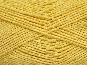 Fiber Content 100% Cotton, Light Yellow, Brand ICE, Yarn Thickness 3 Light  DK, Light, Worsted, fnt2-44329