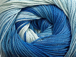 Fiber Content 100% Mercerised Cotton, Brand ICE, Blue Shades, Yarn Thickness 2 Fine  Sport, Baby, fnt2-44691