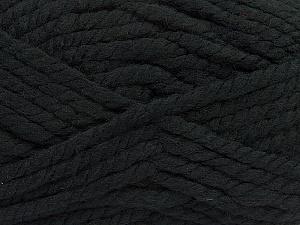 Fiber Content 55% Acrylic, 45% Wool, Brand ICE, Black, Yarn Thickness 6 SuperBulky  Bulky, Roving, fnt2-45120