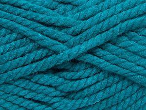 Fiber Content 55% Acrylic, 45% Wool, Teal, Brand ICE, Yarn Thickness 6 SuperBulky  Bulky, Roving, fnt2-45129