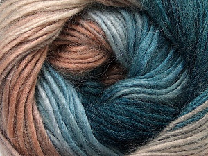 Fiber Content 40% Wool, 30% Acrylic, 30% Mohair, Turquoise, Brand ICE, Camel, Brown Shades, Yarn Thickness 3 Light  DK, Light, Worsted, fnt2-45800