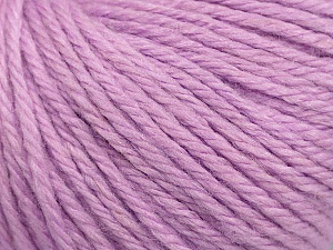 Fiber Content 40% Merino Wool, 40% Acrylic, 20% Polyamide, Light Lilac, Brand ICE, Yarn Thickness 3 Light  DK, Light, Worsted, fnt2-45825