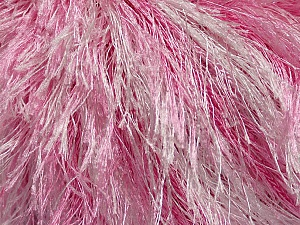 Fiber Content 100% Polyester, White, Pink, Brand Ice Yarns, fnt2-46087