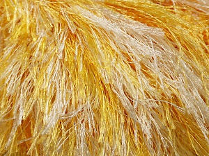 Fiber Content 100% Polyester, Yellow, White, Brand Ice Yarns, fnt2-46088