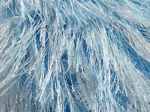 Fiber Content 100% Polyester, White, Brand Ice Yarns, Blue, fnt2-46091