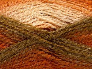 Fiber Content 55% Acrylic, 25% Mohair, 20% Alpaca, Orange, Khaki, Brand Ice Yarns, Cream, Copper, Yarn Thickness 4 Medium  Worsted, Afghan, Aran, fnt2-46208