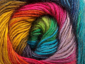 Fiber Content 40% Wool, 30% Acrylic, 30% Mohair, Rainbow, Brand ICE, Yarn Thickness 3 Light  DK, Light, Worsted, fnt2-46394