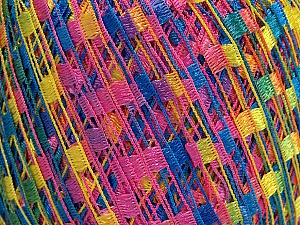 Trellis  Fiber Content 100% Polyester, Yellow, Pink, Brand ICE, Blue, Yarn Thickness 5 Bulky  Chunky, Craft, Rug, fnt2-46584