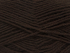 Fiber Content 60% Acrylic, 40% Wool, Brand ICE, Dark Brown, Yarn Thickness 3 Light  DK, Light, Worsted, fnt2-46733