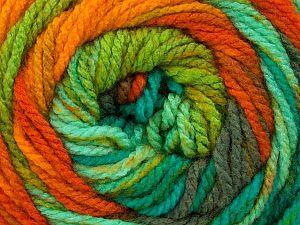 Fiber Content 100% Acrylic, Yellow, Turquoise, Orange, Brand ICE, Grey, Green, Yarn Thickness 4 Medium  Worsted, Afghan, Aran, fnt2-46970