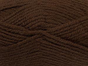 Fiber Content 50% Acrylic, 25% Wool, 25% Alpaca, Brand ICE, Dark Brown, Yarn Thickness 5 Bulky  Chunky, Craft, Rug, fnt2-47133