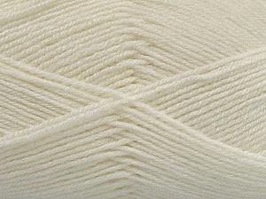 Fiber Content 60% Merino Wool, 40% Acrylic, Off White, Brand ICE, Yarn Thickness 2 Fine  Sport, Baby, fnt2-47162
