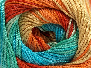 Fiber Content 100% Mercerised Cotton, Yellow, Turquoise, Orange, Mint Green, Brand ICE, Yarn Thickness 2 Fine  Sport, Baby, fnt2-47197