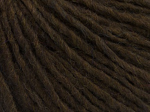 Fiber Content 70% Acrylic, 30% Wool, Brand ICE, Dark Brown, Yarn Thickness 4 Medium  Worsted, Afghan, Aran, fnt2-47499