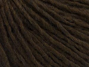 Fiber Content 70% Acrylic, 30% Wool, Brand ICE, Dark Brown, Yarn Thickness 4 Medium  Worsted, Afghan, Aran, fnt2-47499
