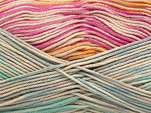 Fiber Content 100% Mercerised Cotton, Pink, Orange, Mint Green, Brand ICE, Blue, Beige, Yarn Thickness 2 Fine  Sport, Baby, fnt2-48628