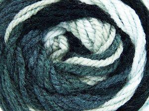 Fiber Content 100% Acrylic, White, Brand ICE, Grey, Black, Yarn Thickness 4 Medium  Worsted, Afghan, Aran, fnt2-48629