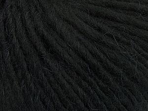 Fiber Content 50% Merino Wool, 25% Alpaca, 25% Acrylic, Brand ICE, Black, Yarn Thickness 5 Bulky  Chunky, Craft, Rug, fnt2-48695