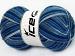Magic Sock White Blue Shades