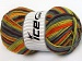 Natural Cotton Color Worsted Purple Orange Green Shades