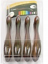 A set of 8 crochet hooks. Sizes: 2.5mm, 3mm, 3.5mm, 4mm, 4.5mm, 5mm, 5.5mm, 6mm Brand ICE, Brown, acs-1117